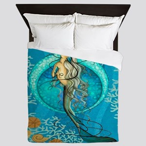 Nautical Mermaid Queen Duvet