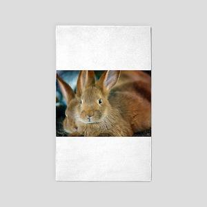 Animal Bunny Cute Ears Easter Area Rug