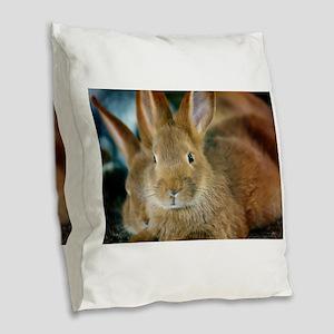 Animal Bunny Cute Ears Easter Burlap Throw Pillow