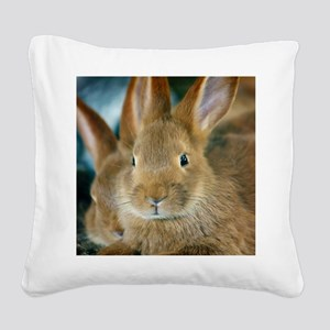 Animal Bunny Cute Ears Easter Square Canvas Pillow