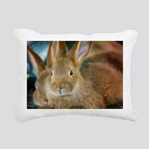 Animal Bunny Cute Ears E Rectangular Canvas Pillow