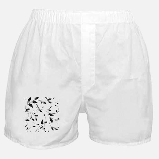 Elegant Leaves Boxer Shorts