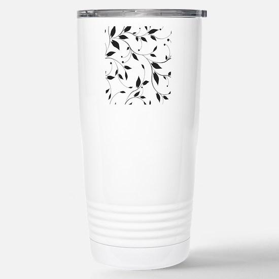 Elegant Leaves Travel Mug