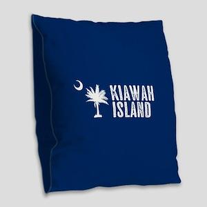 Kiawah Island, South Carolina Burlap Throw Pillow
