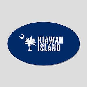 Kiawah Island, South Carolin 20x12 Oval Wall Decal