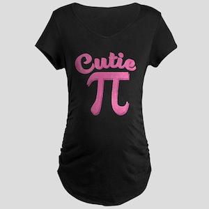 Cutie Pi Maternity Dark T-Shirt
