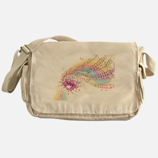 Colorful Music Messenger Bag