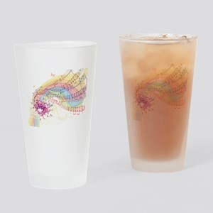 Colorful Music Drinking Glass