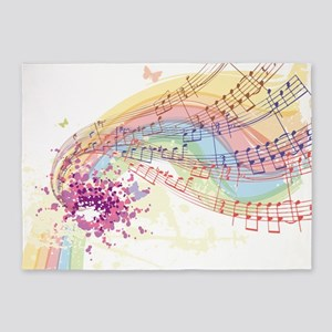 Colorful Music 5'x7'Area Rug