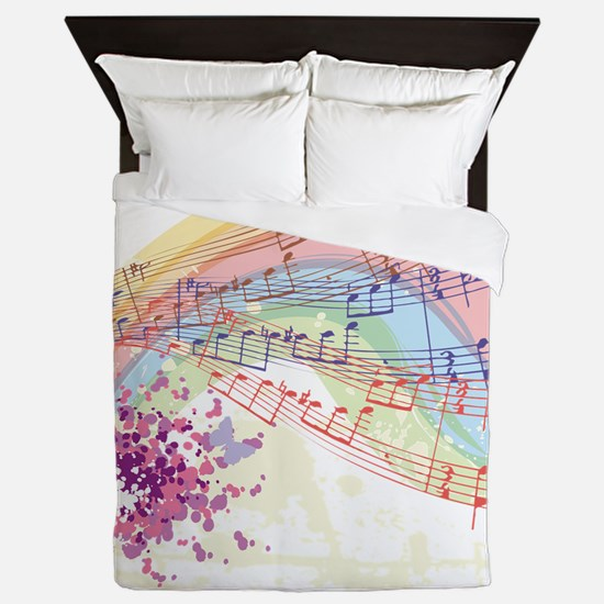 Colorful Music Queen Duvet