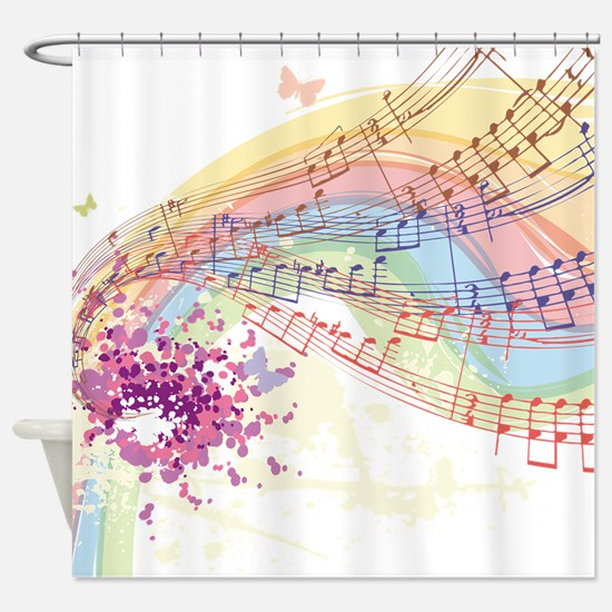 Colorful Music Shower Curtain