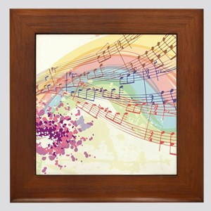 Colorful Music Framed Tile
