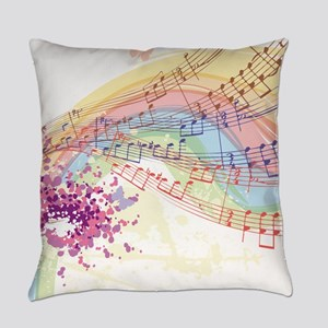 Colorful Music Everyday Pillow