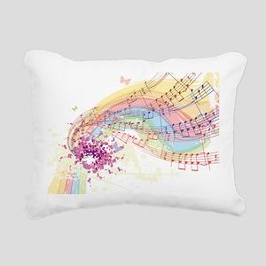 Colorful Music Rectangular Canvas Pillow