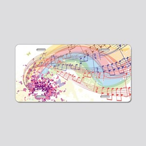 Colorful Music Aluminum License Plate