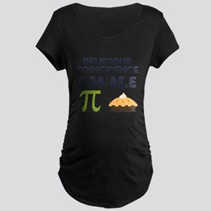 Delicious Coincidence Maternity Dark T-Shirt