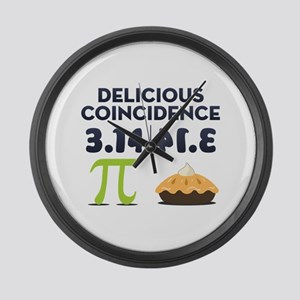 Delicious Coincidence Large Wall Clock