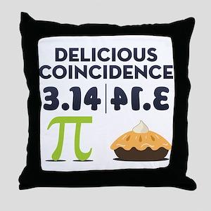 Delicious Coincidence Throw Pillow