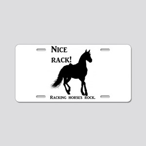 Nice Rack! Racking horses r Aluminum License Plate