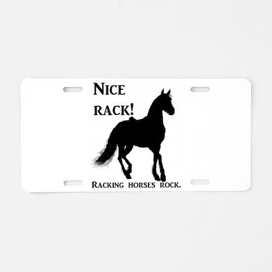 Nice Rack! Racking horses r Aluminum License Plate