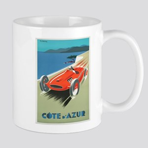 Vintage poster - French Riviera Mugs