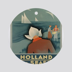 Vintage poster - Holland Round Ornament