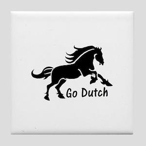 HORSE - Go Dutch - Warmblood design - Tile Coaster