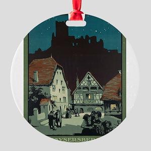 Vintage poster - France Round Ornament