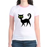 Cat With Green Eyes Jr. Ringer T-Shirt