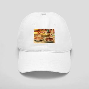 Thanksgiving turkey,side dish,yellow plates ki Cap