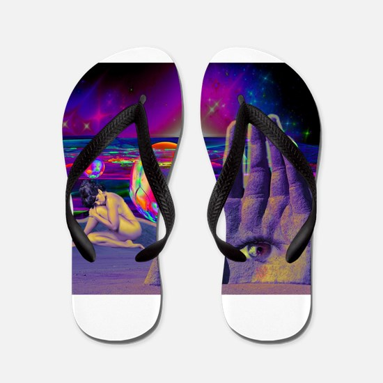 Psychedelic Occult All Seeing Eye Illum Flip Flops