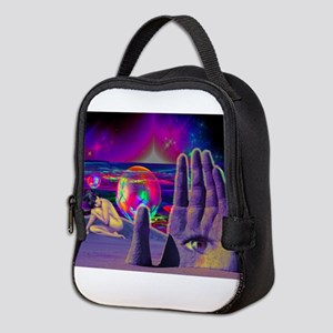 Psychedelic Occult All Seeing E Neoprene Lunch Bag