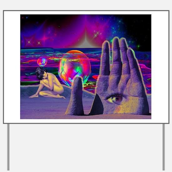 Psychedelic Occult All Seeing Eye Illumi Yard Sign