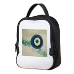 evil eye Neoprene Lunch Bag