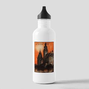 Vintage poster- Krakow Stainless Water Bottle 1.0L