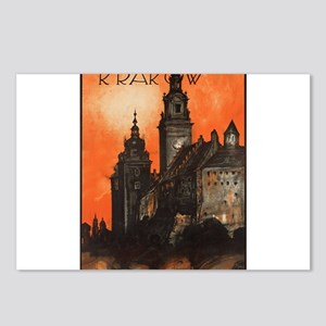 Vintage poster- Krakow Postcards (Package of 8)