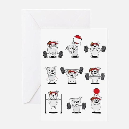 Crossfit Bulldogs Greeting Cards