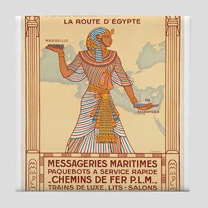 Vintage poster - Egypt Tile Coaster