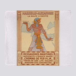 Vintage poster - Egypt Throw Blanket