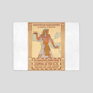 Vintage poster - Egypt 5'x7'Area Rug