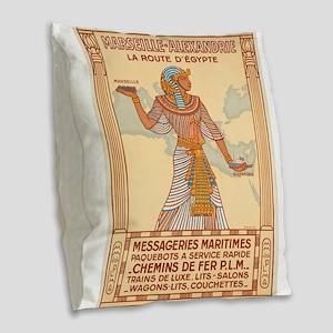 Vintage poster - Egypt Burlap Throw Pillow