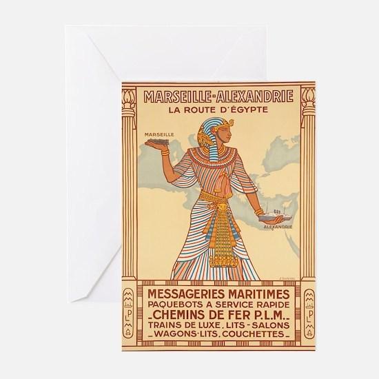 Vintage poster - Egypt Greeting Cards