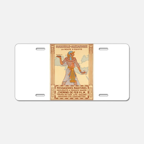 Vintage poster - Egypt Aluminum License Plate