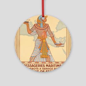Vintage poster - Egypt Round Ornament