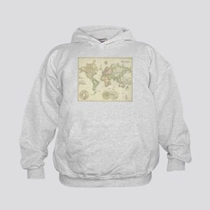 Old world map kids hoodies sweatshirts cafepress vintage map of the world 1872 kids hoodie gumiabroncs Image collections