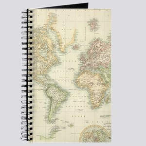 Old world map notebooks cafepress vintage map of the world 1872 journal gumiabroncs