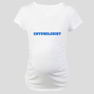 Entomologist Blue Bold Design Maternity T-Shirt