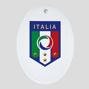 Italian Soccer emblem Oval Ornament