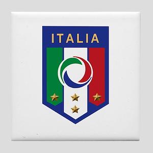Italian Soccer emblem Tile Coaster