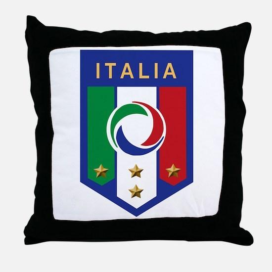 Italian Soccer emblem Throw Pillow